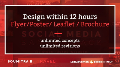 Design Flyer/Poster/ Leaflet / Brochure in 12 hours