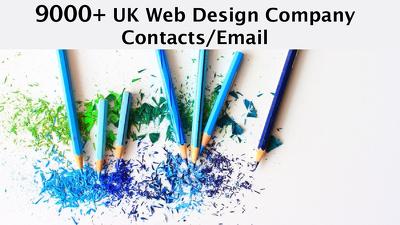 Send you 9000 plus UK WEB DESIGN Company/agencies
