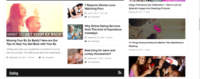 Publish 5 Posts on quality Dating websites  - Do-follow