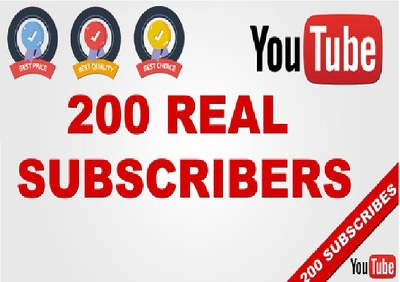 Add 200 subscribers to your YouTube channel