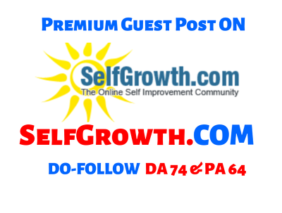 Publish a guest post on Self Growth —SelfGrowth.com—DA74 PA64