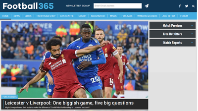 Guest post on Football365.com sports website - DA 65