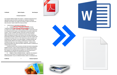 Type Pdf files, Scanned images to Editable word File.