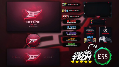 A Professional Twitch Overlay And Stream Package (Basic)
