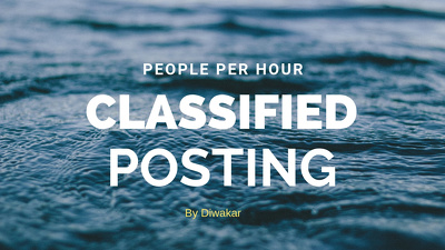 40 Posting In Classified Site