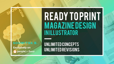 Design a ready to print magazine in Illustrator