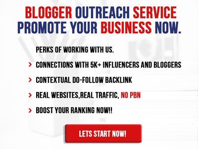 Guest posting and blogger outreach service in your niche.
