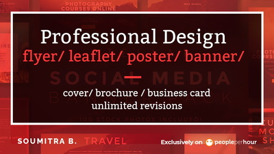 Design professional flyer/leaflet/poster/baner/cover/brochure/bc