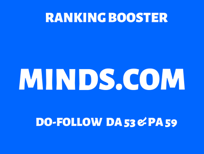 Write and Publish an article on Minds.com with Do-Follow link