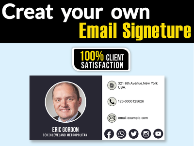 Design your Email Signature just 12 hours