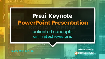Design a modern Prezi, Keynote or PowerPoint Presentation