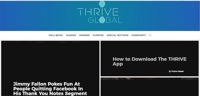 Write & Publish Guest Post On Thriveglobal Da 64 Dofollow Link