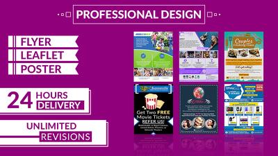 Professional Flyer/Leaflet/Poster for you.