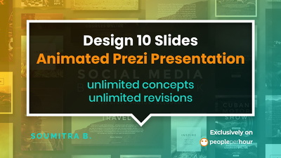 Design 10 slides animated Prezi presentation
