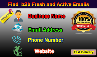 Find 500 b2b Fresh and Active Emails