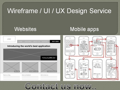 Create Wireframes, Ui / Ux For Website And Mobile Application