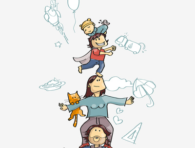 Make a personalised comic style family portrait