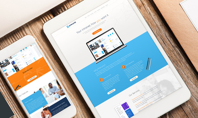 Create Premium, Custom Designed UI/UX PSD Web design Layout