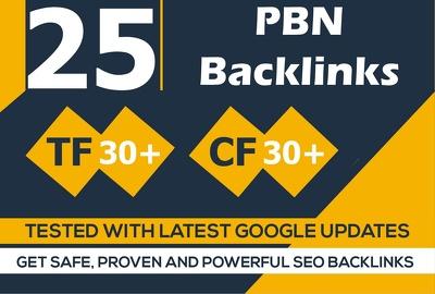 Build 11 Manual PBNs Home Page TF CF DA PA 25+ Backlinks