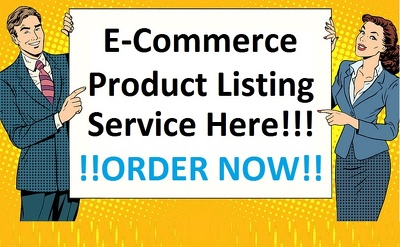 Do 20 product listing to the eCommerce website