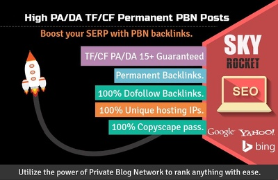 Create 12 High PA/DA TF/CF Homepage PBN Backlinks To Skyrocket y