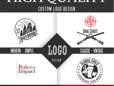 Create High-Quality Custom Logos With Ultimate Revisions