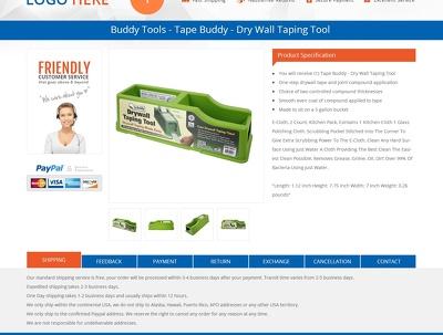 Readymade responsive Ebay listing template