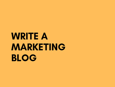 Write a marketing blog