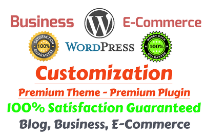 Create Or Customize Your WordPress Business Or Ecommerce Website