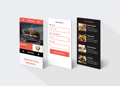 Design your mockup mobile app screens