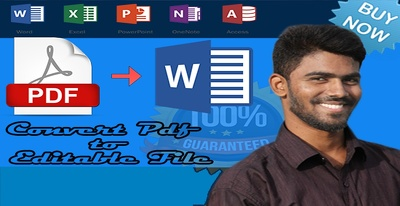 Convert or retype PDF to editable word or excel file format