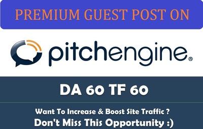 Publish a guest post on PitchEngine - PitchEngine.com - DA64, PA