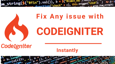 Fix any issue with your codeigniter application or website