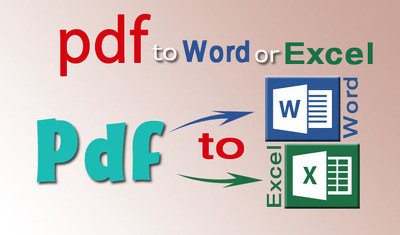 Convert 50 PDF/ scanned  image/ jpg/ png image to word or excel