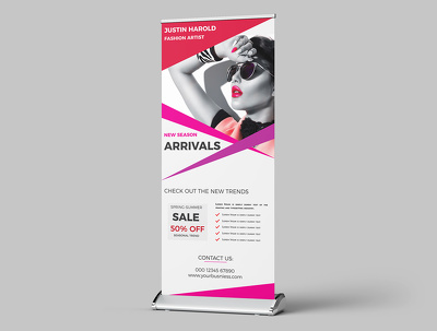 Design Eye Catchy Roll Up Banner professionally