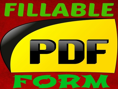 Create a fillable pdf form - UNLIMITED REVISIONS