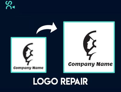 A logo repair or modification