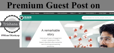 Guest Post On Deakin University deakin.edu.au Blog DA74 DoFollow