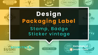 Design Packaging Label, Stamp, Badge, Sticker vintage