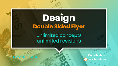 Create you a double sided flyer