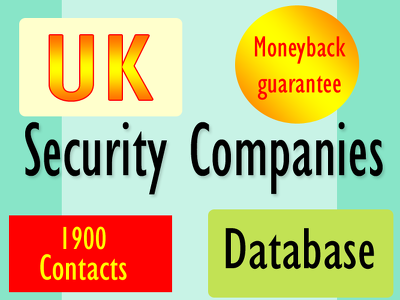 Deliver you 1900 uk security companies instantly