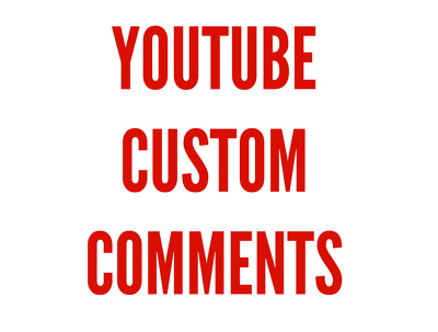 POST 20 YOUTUBE CUSTOM COMMENTS ON YOUR VIDEO
