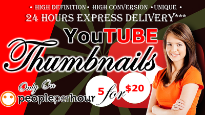 Create 5 YouTube Thumbnails