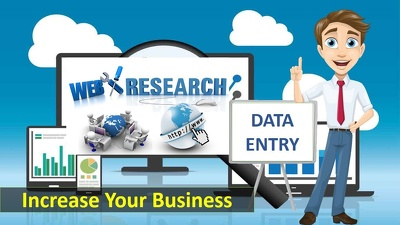 Do 4 hours data entry / web research