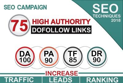 Do 75 High Authority Dofollow Backlinks, Da100