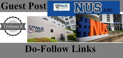 Guest post on Singapore University Website. nus.edu.sg - DA 82