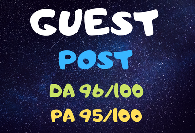 Do Guest Post on DA 96 site permanent baclinks