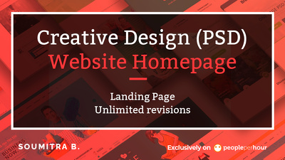 design creative (PSD) website homepage/landing page