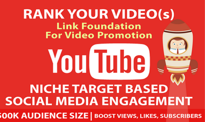 3000 YouTube Niche Related Views + Engagements