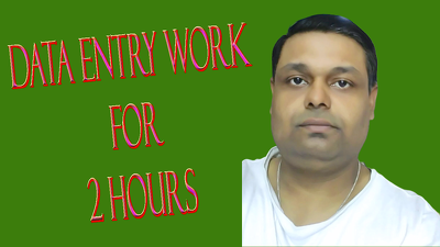 Do all type of data entry and typing work for 2 hours